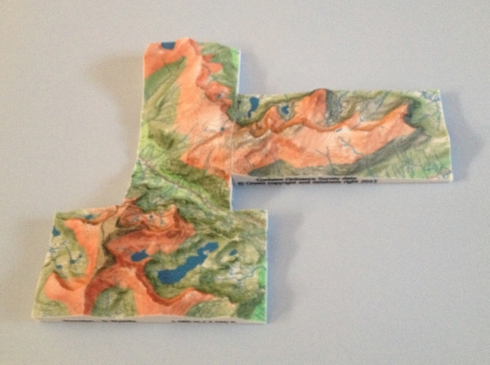 Glyder Fawr - Relief 3d printed Photo of 3 of the 5 adjoining Welsh 3000' models