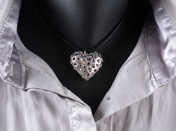 Small hearts, Big love (from $15) 3d printed Printed in polished Silver