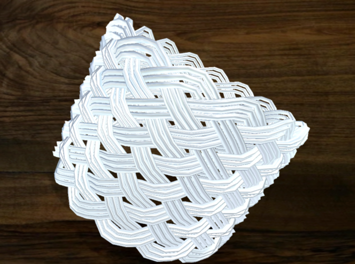Turk's Head Knot Ring 12 Part X 16 Bight - Size 26 3d printed