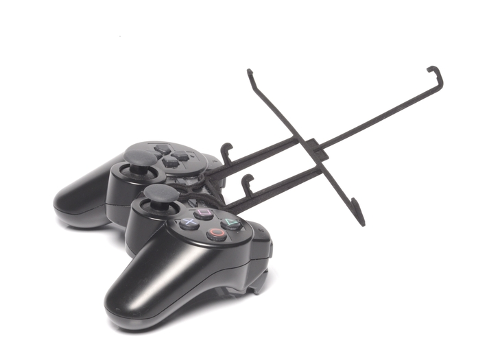 Controller mount for PS3 & Sony Xperia Z2 Tablet W 3d printed Without phone - A Nexus 7 and a black PS3 controller