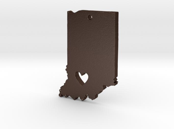 I Heart Indiana Pendant 3d printed