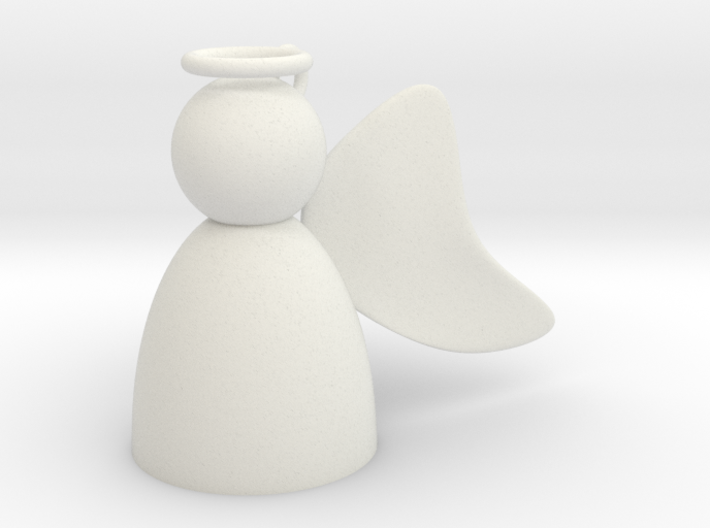 Angel with Wings Back 3d printed