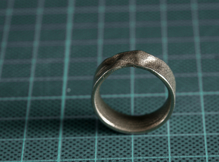 The Crumple Ring - 19mm Dia 3d printed