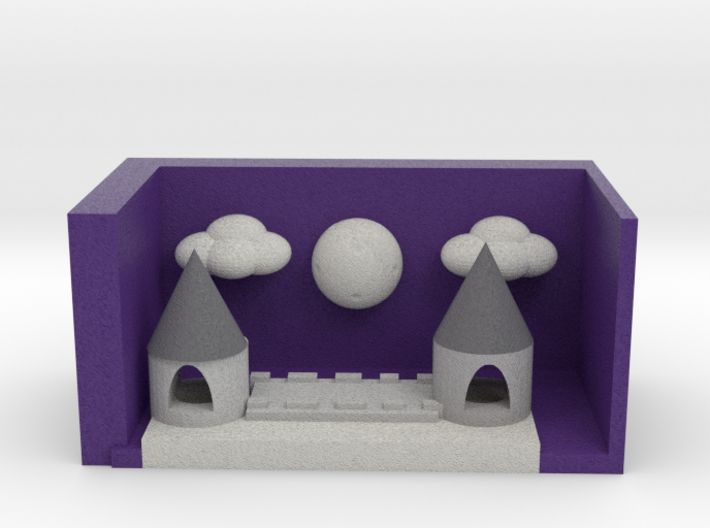 Castle Skyline At Night Version 2 3d printed