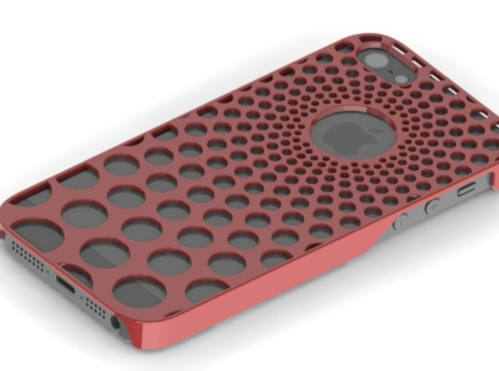 Iphone5 Cover Phi Spiral Bubble 3d printed