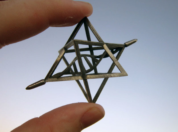 Merkaba Spinner DNA - 6cm 3d printed Descision Maker Configuration