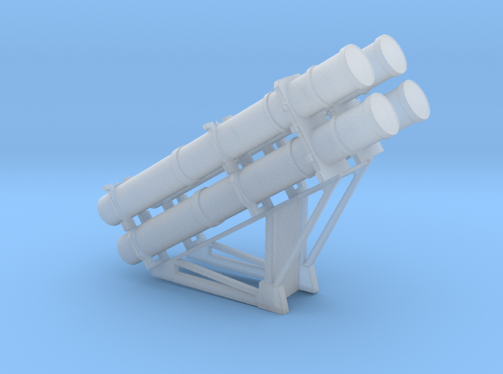Harpoon missile launcher 4 pod 1/96 3d printed