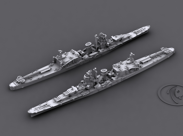 1/1800 IJN CL Oyodo[1944] 3d printed Computer software render