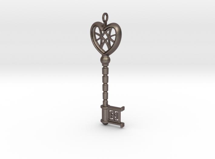 Heart Key Pendant 3d printed