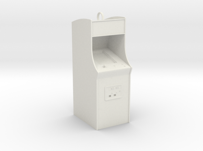 Customizable Arcade Cabinet Holiday Ornament 3d printed