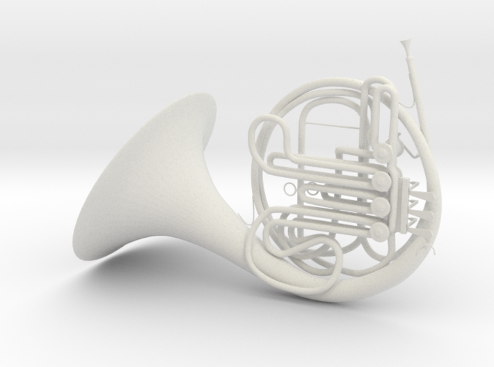 French Horn 3d printed