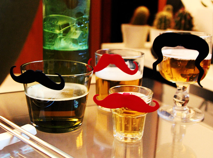 Mug & glass accessories Mustache 1 3d printed