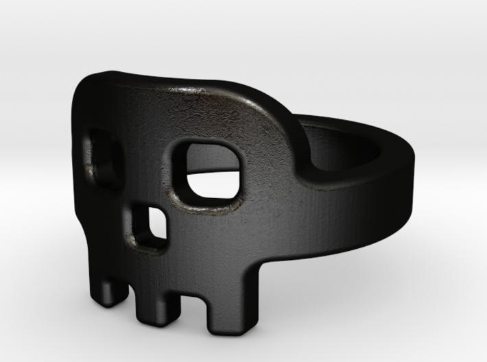 Skully Ring 3d printed