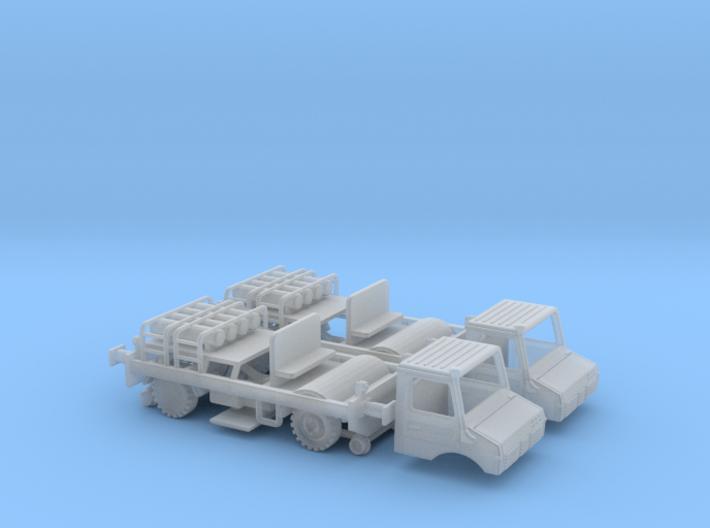 0020 N Gauge 1:160 2x Unimog Zweiwege Lkw Typ 1  3d printed