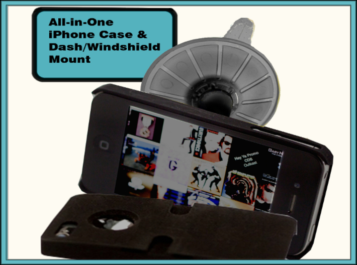 Iphone 6 Phone Case & Windshield/Dash Mount 3d printed Iphone 6 Phone Case & Windshield/Dash Mount
