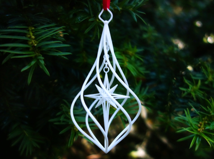 Christmas Tree Ornament (Bauble) - North Star 3d printed Christmas Tree Ornament