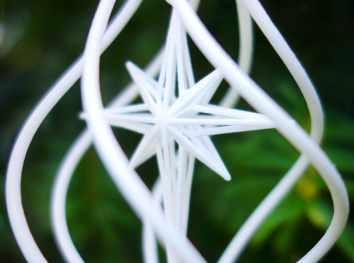Christmas Tree Ornament (Bauble) - North Star 3d printed Detail