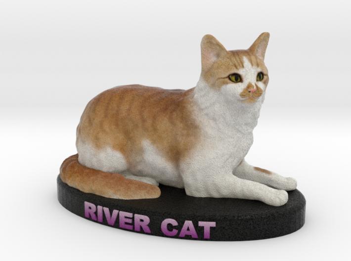 Custom Cat Figurine - River Cat 3d printed
