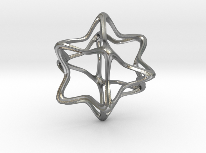Cube Octahedron Curvy Pinch - 5cm 3d printed