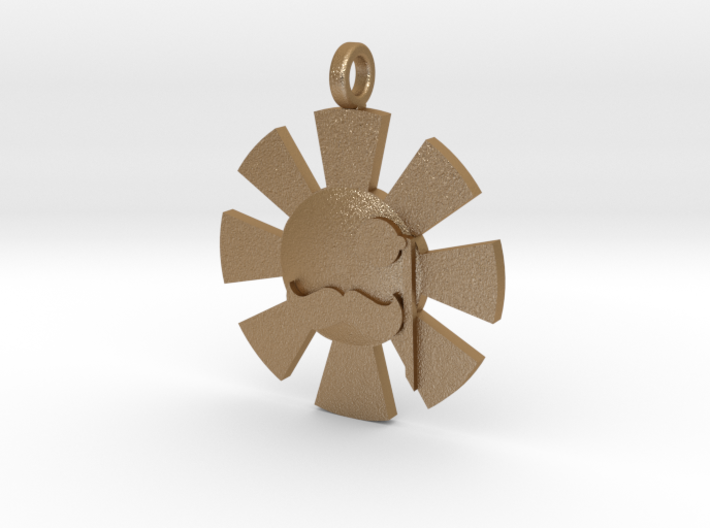 'Here Comes The Sun' Pendant in Metal 3d printed