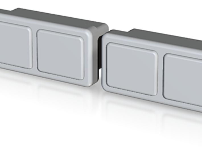 Dual Headlight Lens (TS-LT-0004)old 3d printed