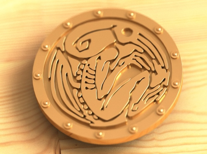 Cthulhu buckle (35mm) 3d printed