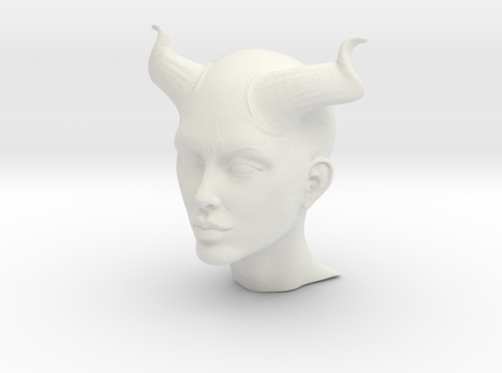Beautiful Devil face 3d printed