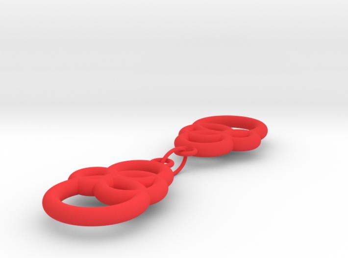 Michelin like earrings 3d printed