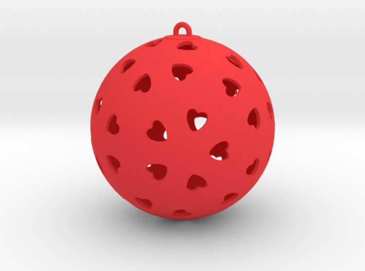 DRAW ornament - hearts  3d printed