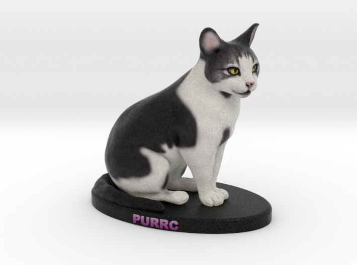 Custom Cat Figurine - Purrc 3d printed