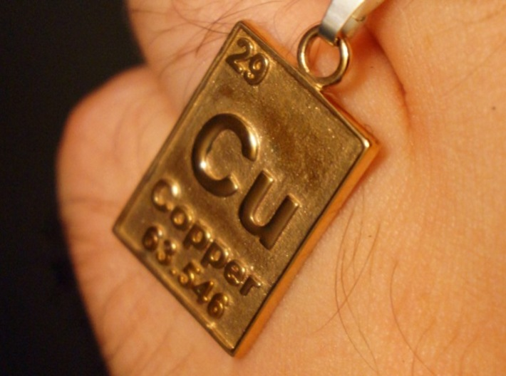 Copper periodic table pendant n6swellu5 by cbertucio copper periodic table pendant 3d printed copper pendant in polished bronze urtaz Images