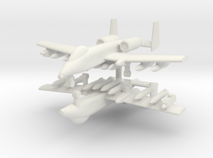 1/285 A-10 Thunderbolt II (Full Loadout) (x2) 3d printed