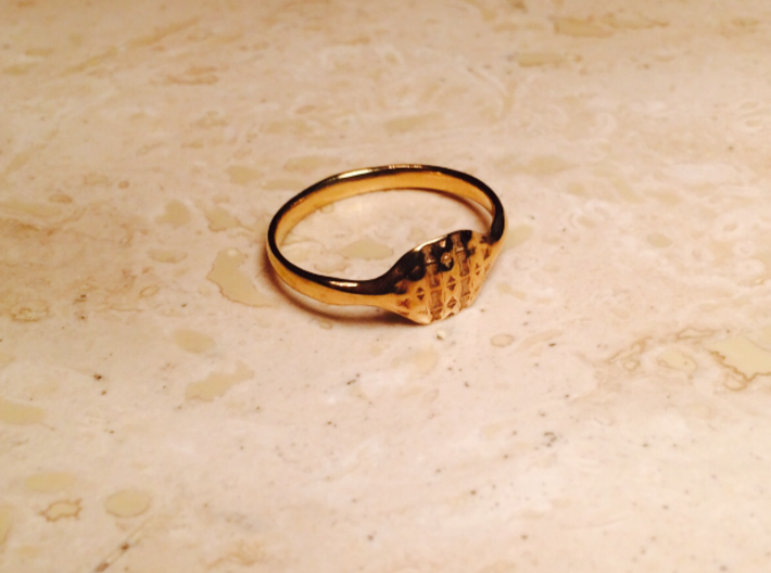 Triss Ring US Size 8 UK Size Q 3d printed Gold Plated Brass