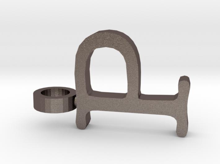 P Letter Pendant 3d printed