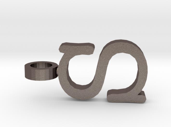 S Letter Pendant 3d printed