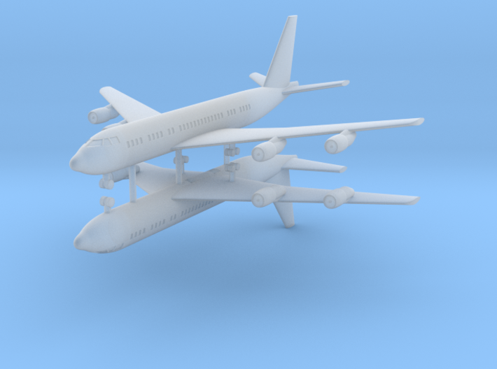 1/700 707-138B Passenger Aircraft (x2) 3d printed