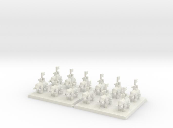 3mm DBA Elephants 40x40mm (x2) 3d printed