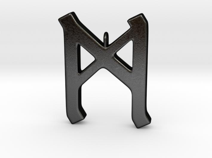 Rune Pendant - Mann 3d printed