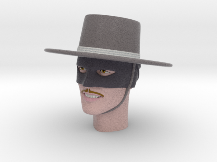 1:6 Scale Zorro Head 3d printed
