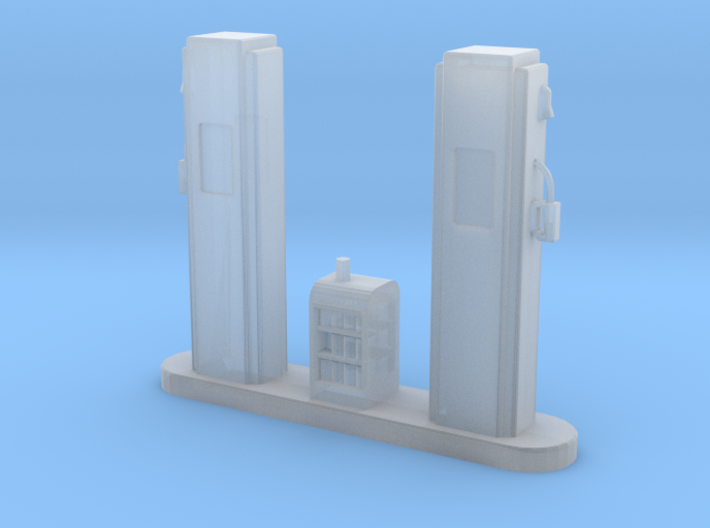 S-Scale 1950's Gas Pump Island 3d printed