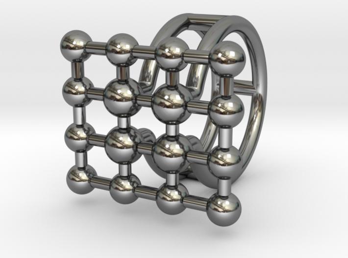 MOLECULA RING SIZE 6,5 3d printed