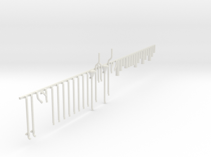 Details pack 4. 00 scale Chimney Pots and Downpipe 3d printed