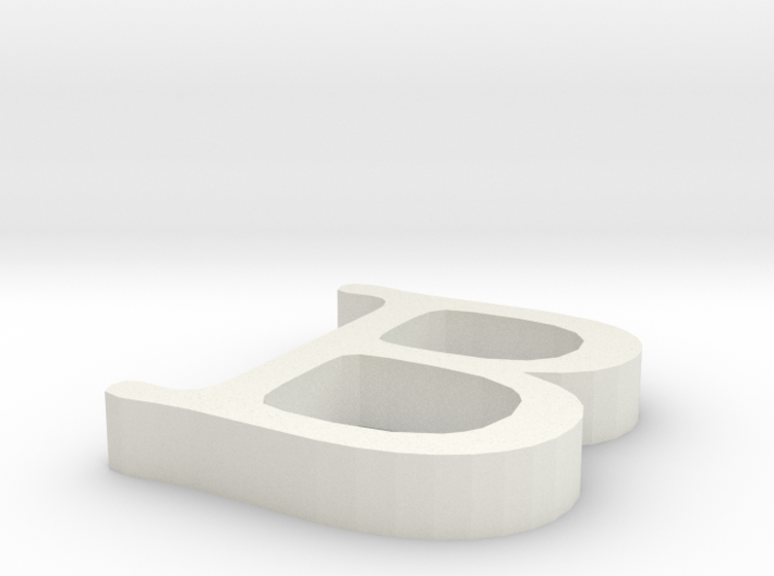 B Letter 3d printed
