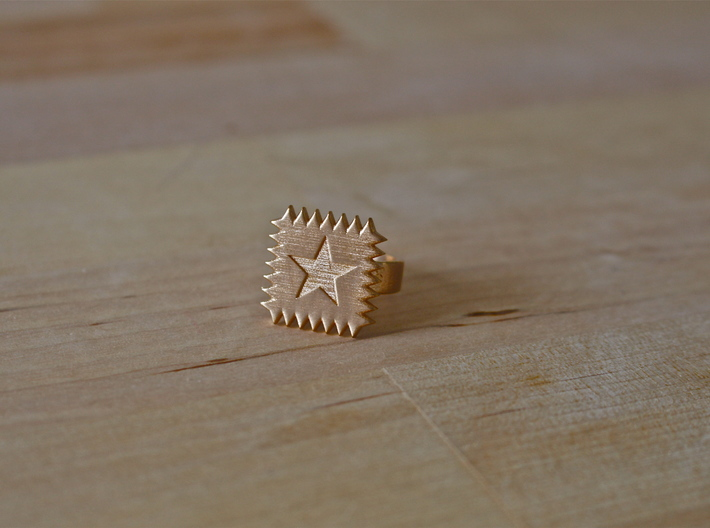 SpikeStar1 Ring 3d printed