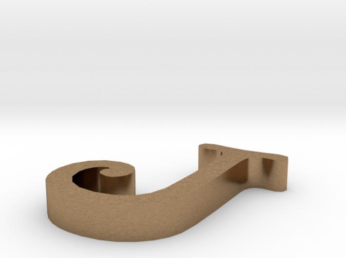 J Letter 3d printed
