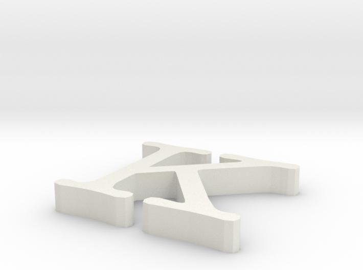 K Letter 3d printed