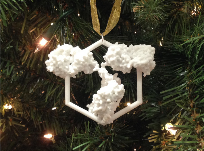 Antibody Ornament 3d printed Adorn your tree with IgGs