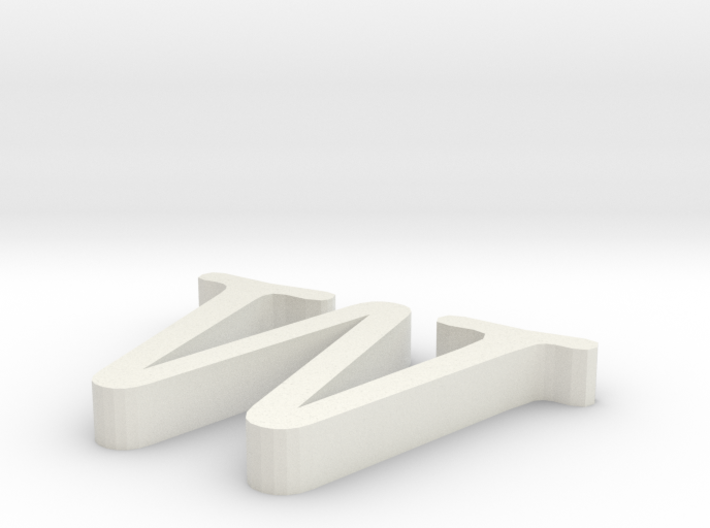 W Letter 3d printed
