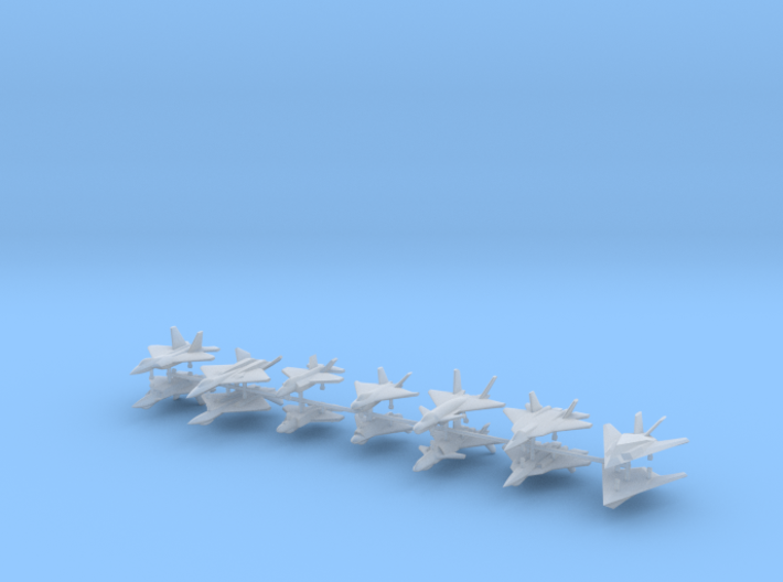 1/600 Stealth Fighter Kit (x14) 3d printed