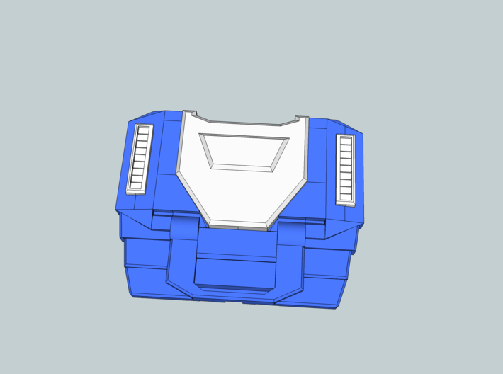Extremely Noisy Robot Chest 3d printed Suggested colour guide for painting